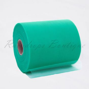 Teal Polyester Tulle Roll